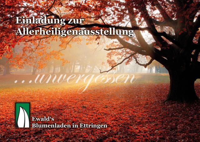 Einladung zur Allerheiligenausstellung 2014